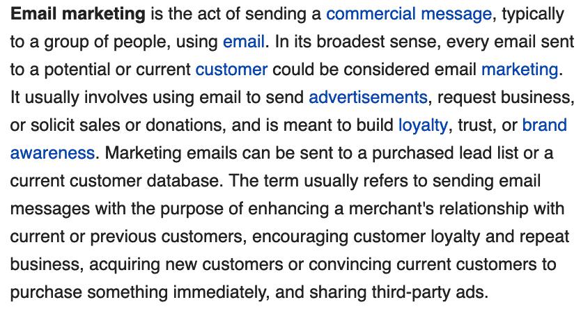 Digital marketing agency - Definition of email marketing